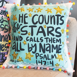 He Counts the Stars Pillow
