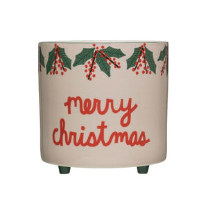 Merry Christmas Footed Container
