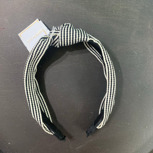Striped Headband Black