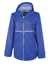 Load image into Gallery viewer, Royal/Stripe Rainjacket