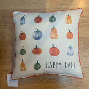 Pumpkin Rows Pillow