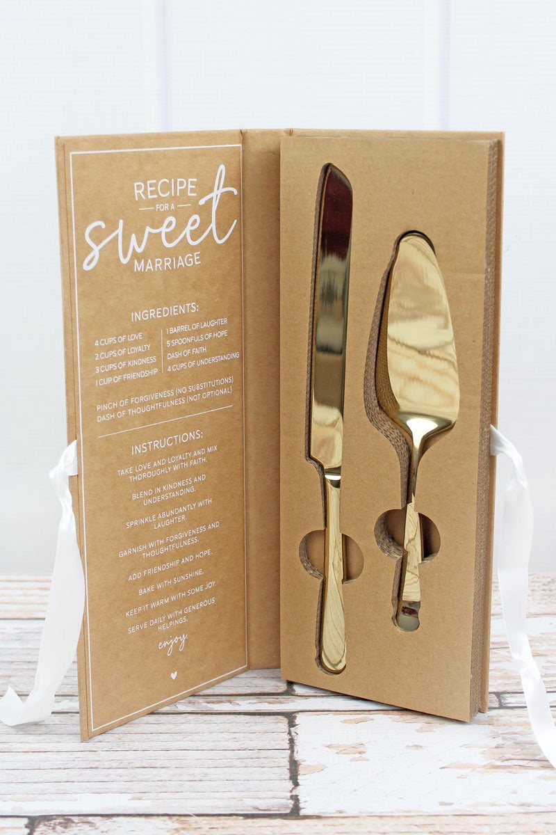 2 piece Wedding Cake Serving Set