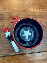 Load image into Gallery viewer, Americana Appetizer Bowl & Spreader Set