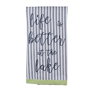 Life is Better Lake Towel