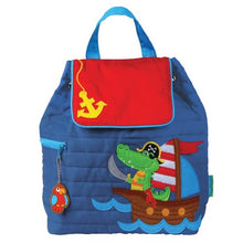 Load image into Gallery viewer, Quilted Backpack Alligator/Pirate