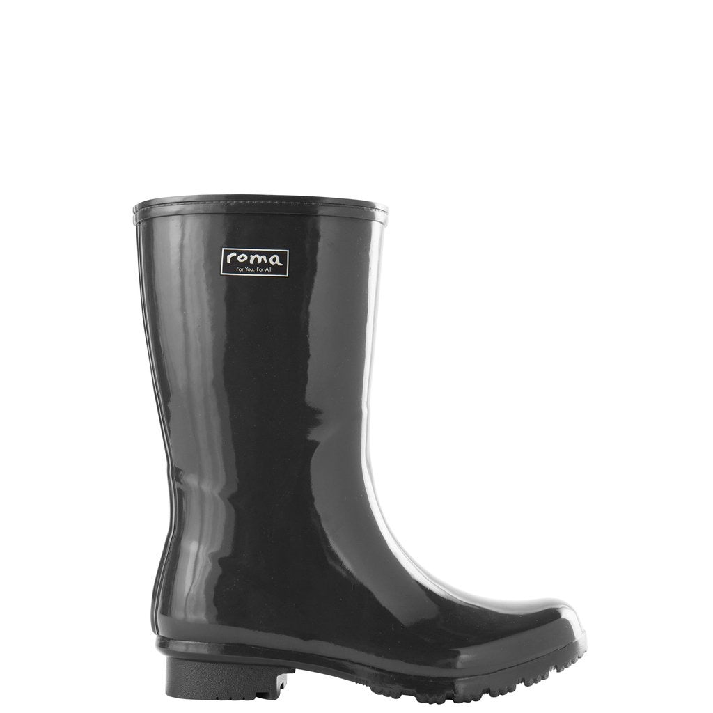 Emma Mid Gray Rain Boot- Ladies