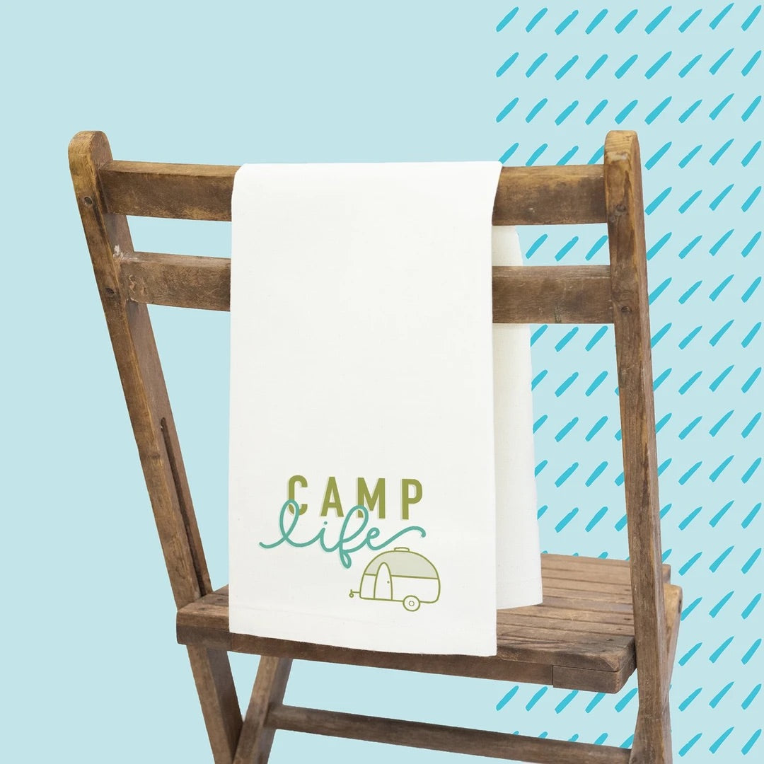 Camp Life Tea Towel
