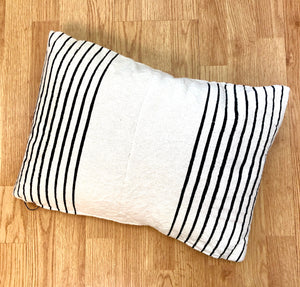Natural and Black Pillow