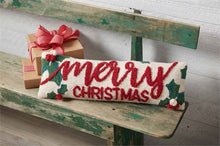 Load image into Gallery viewer, Holly Merry Christmas Pillow