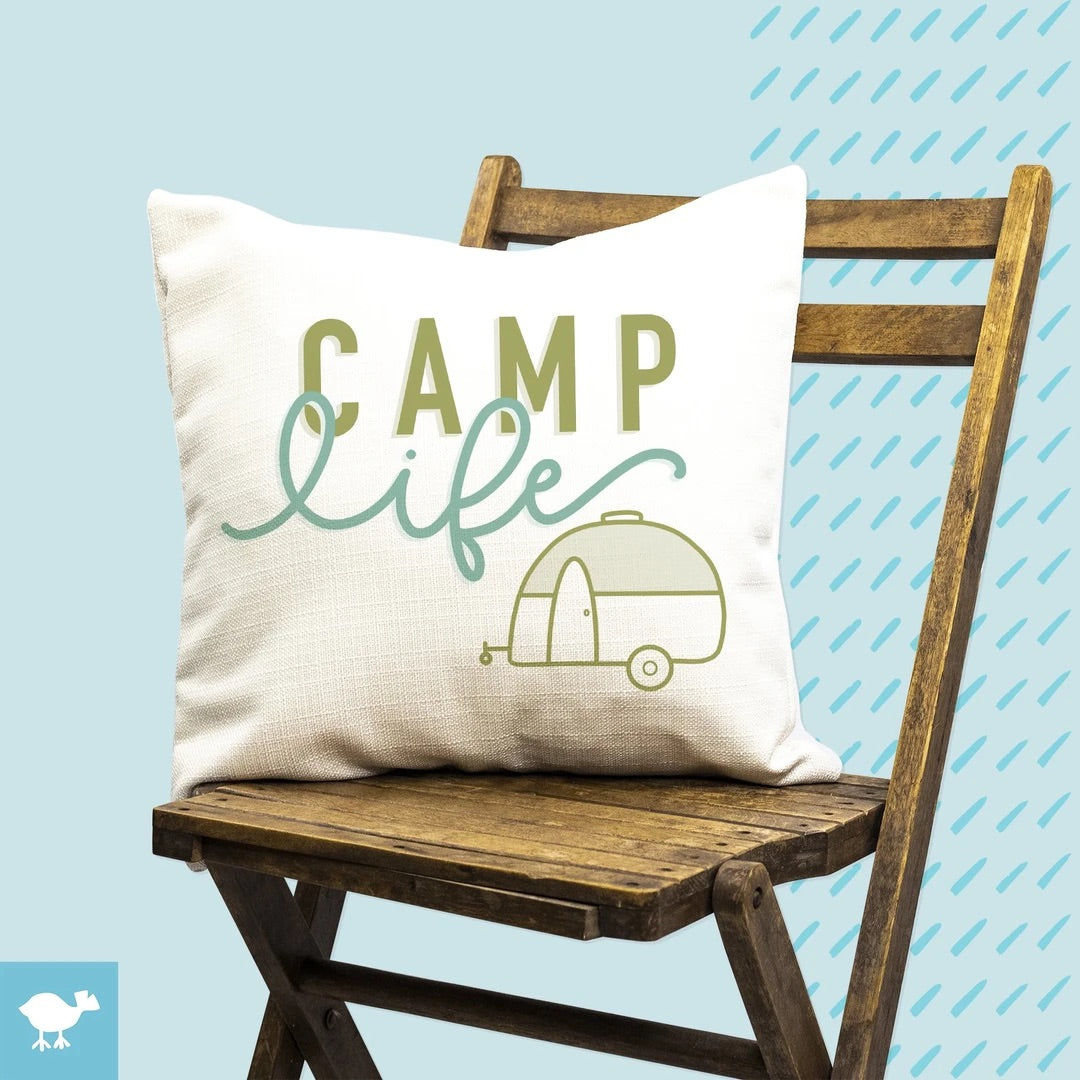 Camp Life Pillow