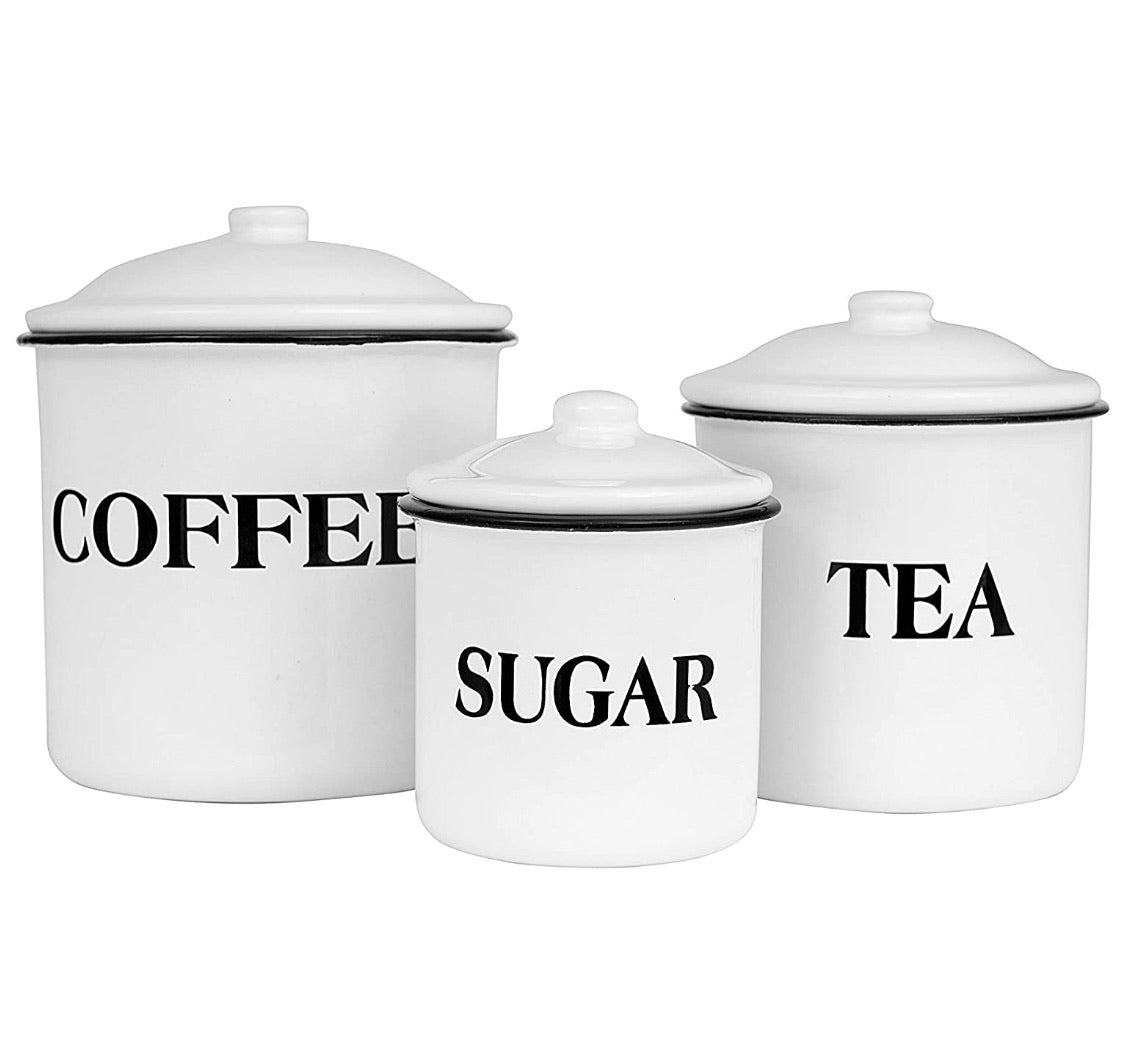 Enamel Containers - Set of 3