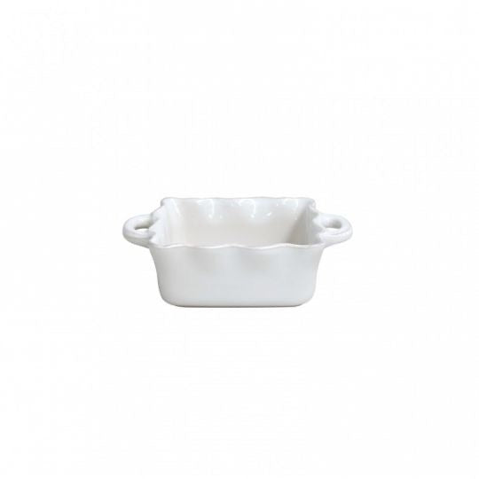 Cook & Host Ruffled Square Baker - White