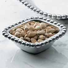 Load image into Gallery viewer, Aluminum Square Beaded Bowl - small