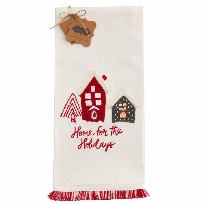 Home Fringe Christmas Towel