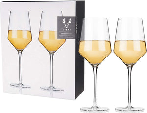 Viski Crystal Chardonnay Glass Set/2