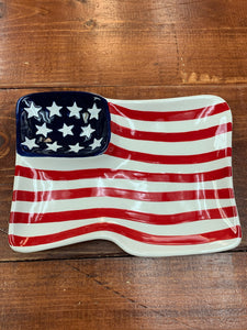American Flag Appetizer Plate