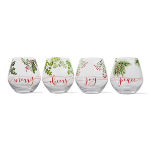 Holly Stemless Wine Glass