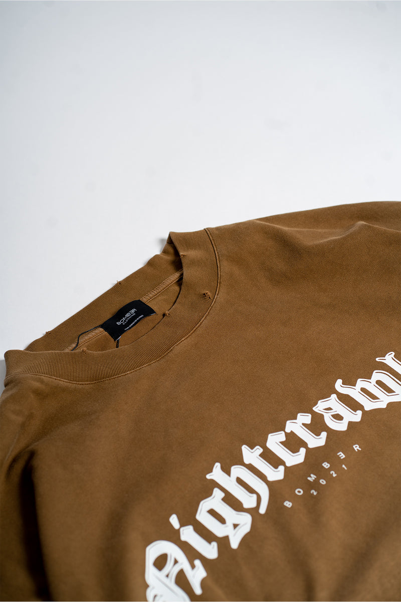 LONG SLEEVE T-SHIRT - FADED BROWN