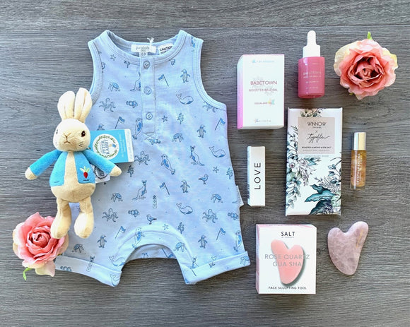 New Mama And Baby  Boy Pamper Hamper