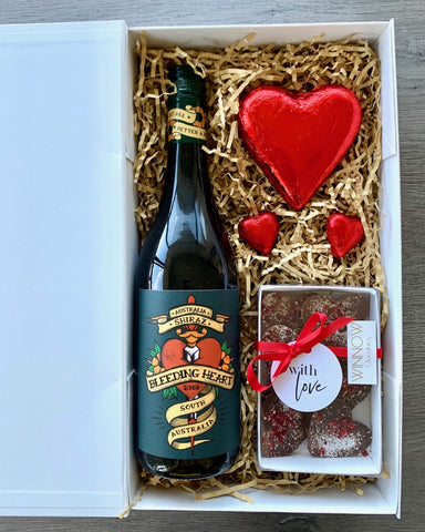 Tattoo My Heart Red Wine and Chocolates Hamper