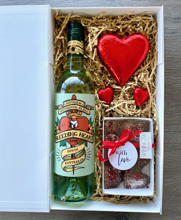 Tattoo My Heart Wine and Chocolates Hamper