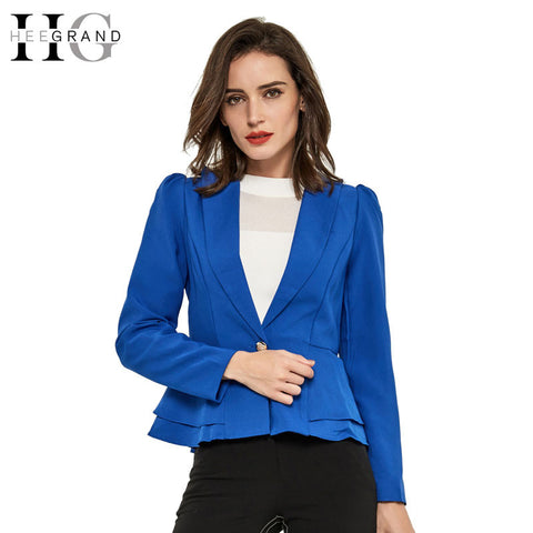 HEE GRAND Blazer Women Natural Color Jacket Single Breasted Notched Women Full Sleeve Solid Blazers Feminino Suit Jacket