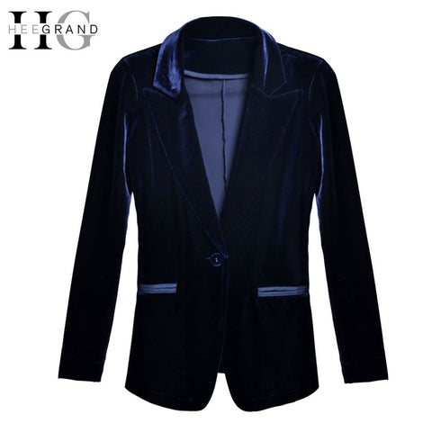 HEE GRAND 2017 Fashion Velvet Women Blazer