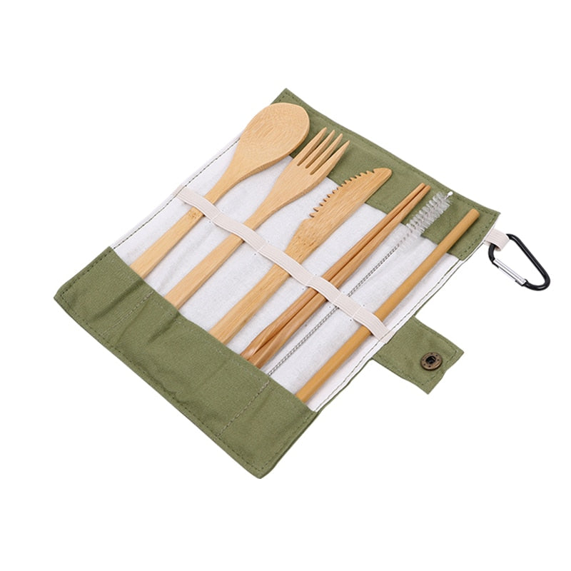 Bamboo Cutlery To Go Set