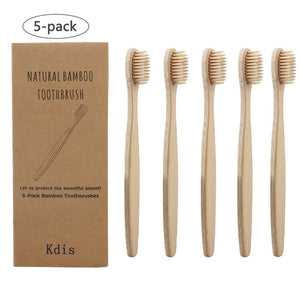 Open image in slideshow, 5 Eco-Friendly Bamboo Soft Fibre Toothbrush for Kids