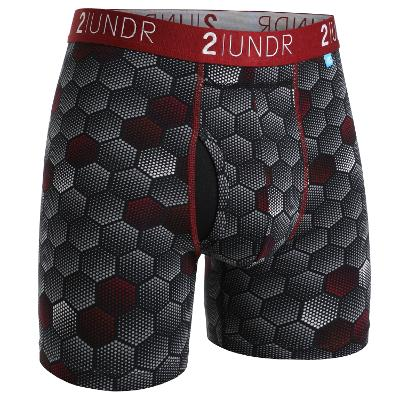 MENS BOXER BRIEF - BLK/RED PRINT