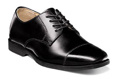BOYS CAP TOE - BLACK