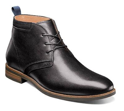 UPTOWN PLAIN TOE CHUKKA BOOT - BLACK