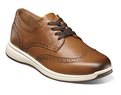 BOYS GREAT LAKES WINGTIP - COGNAC