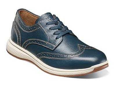 BOYS GREAT LAKES WINGTIP - NAVY