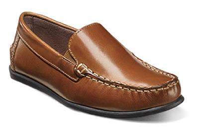 BOYS JASPER VENETIAN SLIP - SADDLE TAN