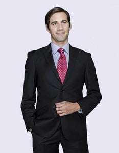EURO SLIM FIT SUIT - BLACK