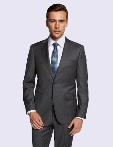 EURO SLIM FIT SUIT - DARK GREY