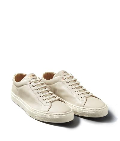EDGE LEATHER SNEAKER - NATURAL