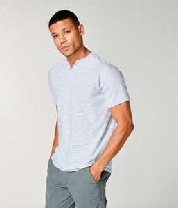 SS SUPA SOFT STRIPE  NOTCH T - OCEAN