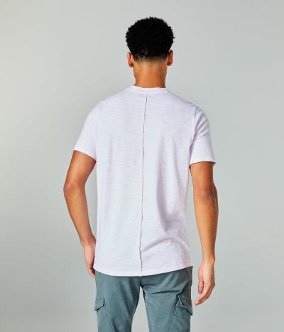 SS SUPA SOFT STRIPE  NOTCH T - PINK