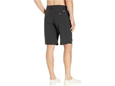 BOYS REVERSE HEATHER HYBRID SHORT - BLACK HEATHER