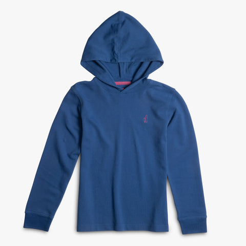 BOYS BARREL KNIT HOOD - BLUE