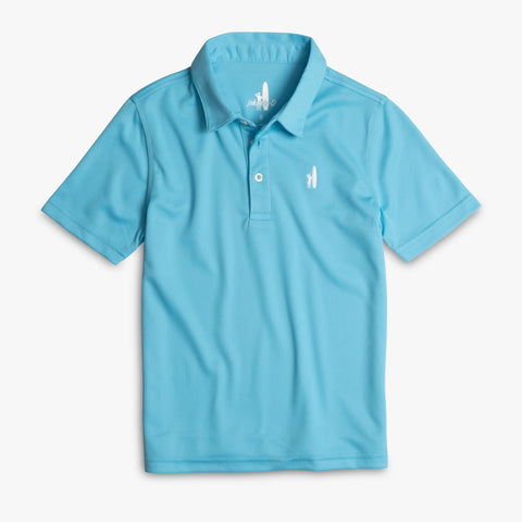 BOYS FAIRWAY POLO - AQUA