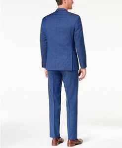 MICHAEL KORS WOOL AIR SOFT STRETCH SUIT - BLUE
