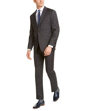 MICHAEL KORS WOOL AIR SOFT STRETCH SUIT - GREY
