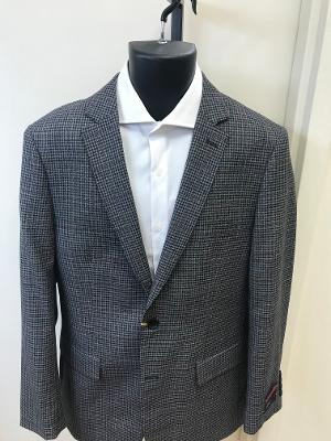 MANTONI MODERN SLIM 100% WOOL BLAZER - GREY