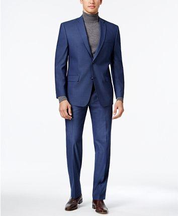 REGULAR FIT 2 PC SUIT  - BLUE