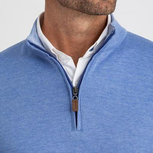 FAIRWAY QUARTER ZIP - BLUE