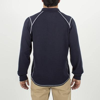 SEA SILK BARREL QUARTER ZIP - NAVY