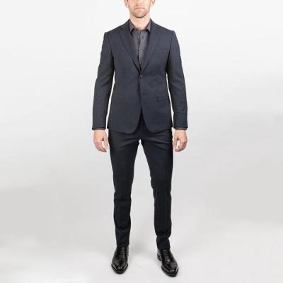 MODERN SLIM 100% WOOL SUIT - BLUE